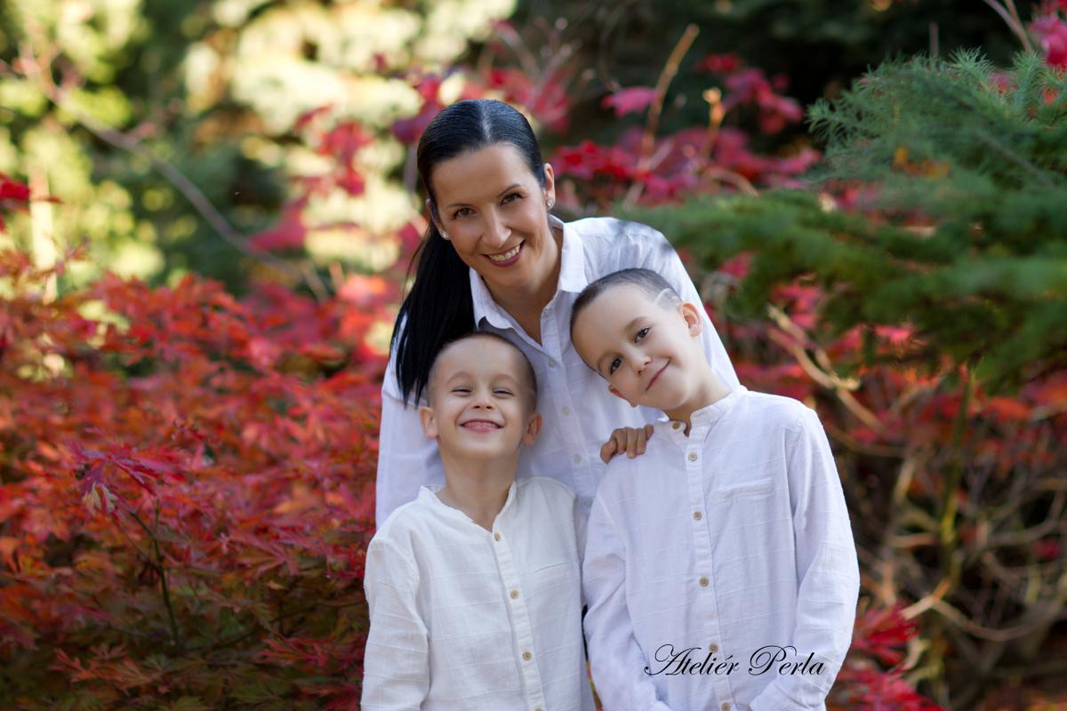 Rodinné podzimní focení, Rodinné focení venku