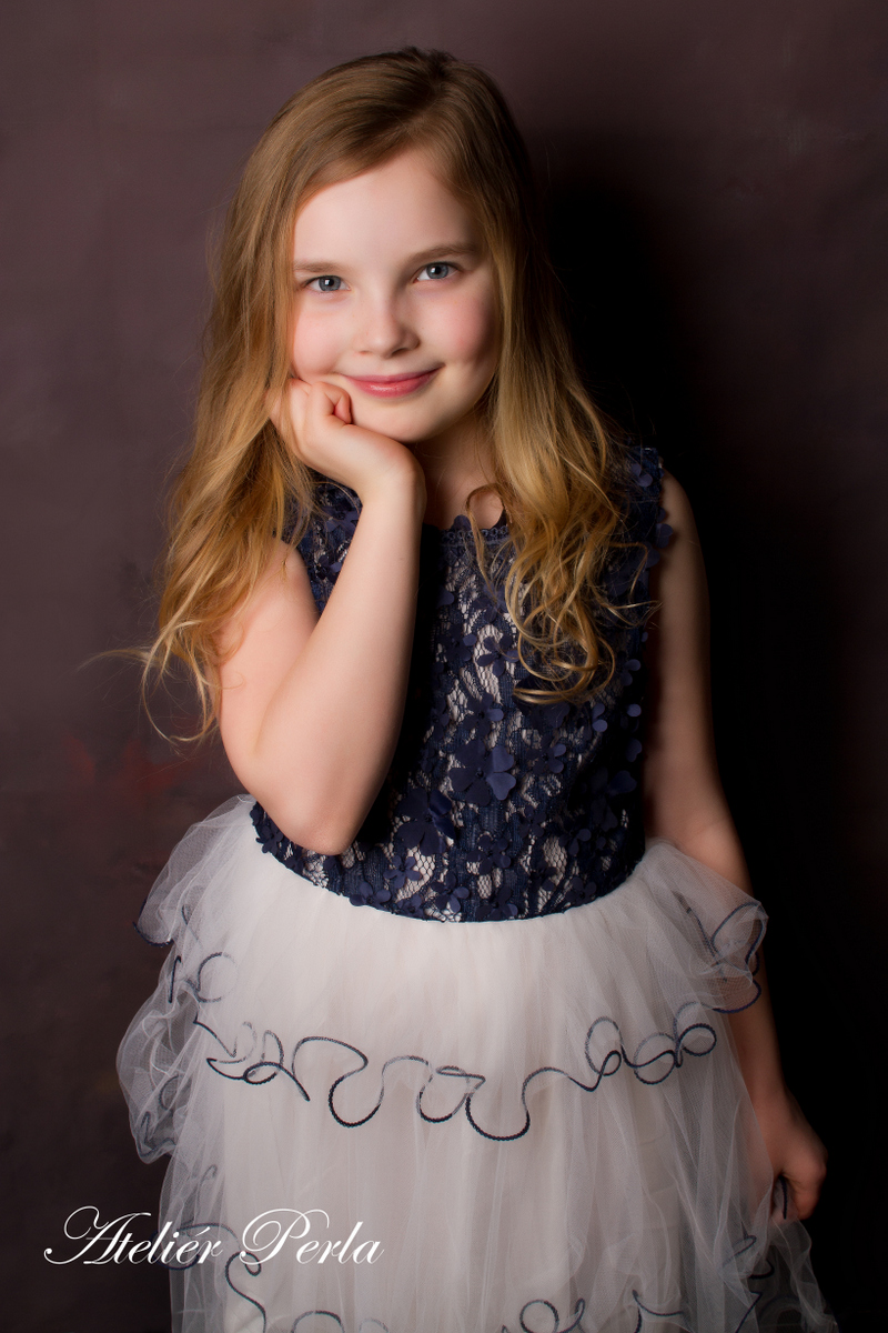 Portrét v ateliéru, Focení dětí v ateliéru
